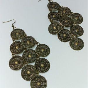 NWT TeSori Lightweight Bronze Metal Earrings